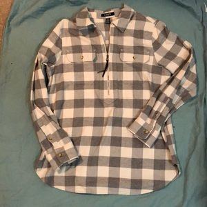 Soft grey and white flannel